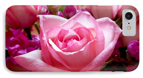 Ombre Pink Rose Bouquet IPhone Case