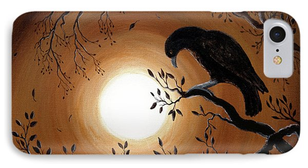 Ominous Bird Of Yore IPhone Case by Laura Iverson