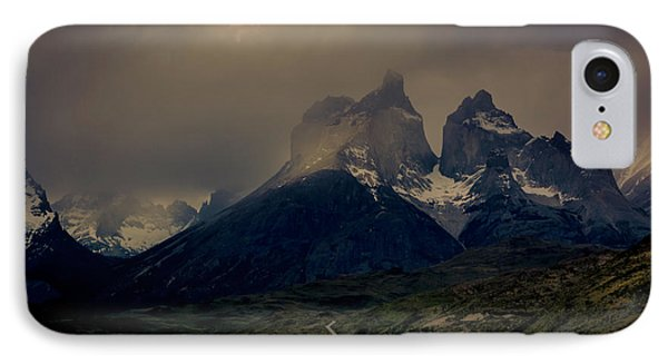 IPhone Case featuring the photograph Ominous Peaks by Andrew Matwijec