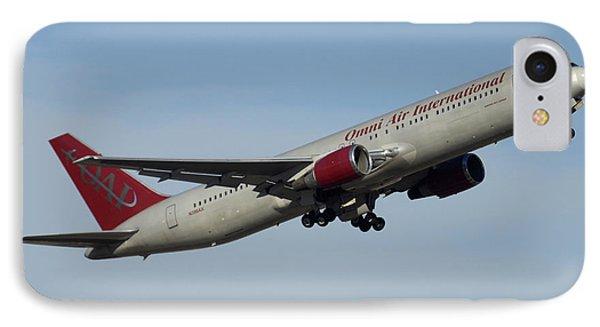 Omni Air International Boeing 767-319 N396ax Phoenix Sky Harbor January 2 2015 Phone Case by Brian Lockett