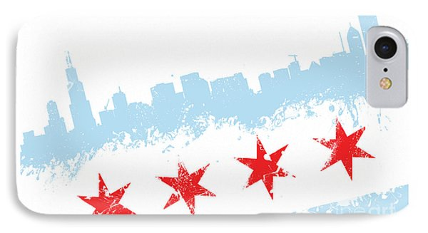Chicago Flag Lean IPhone Case by Mike Maher