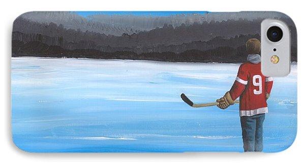 On Frozen Pond - Gordie Phone Case by Ron Genest