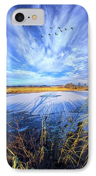 IPhone Case featuring the photograph On Frozen Pond by Phil Koch