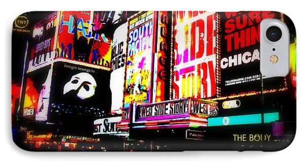 On Funky Broadway  IPhone Case by Funkpix Photo Hunter