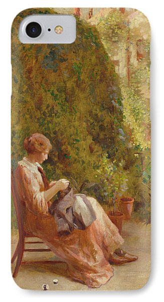 On The Balcony IPhone Case by Henry Thomas Schafer