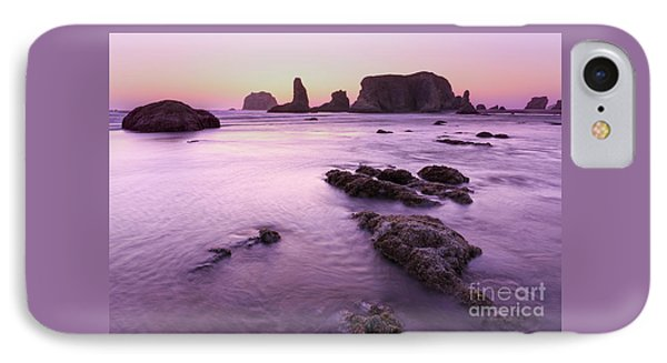 On The Beach At Bandon, Or IPhone Case by Masako Metz