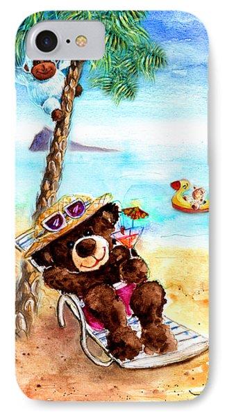 On The Beach In Benidorm IPhone Case by Miki De Goodaboom