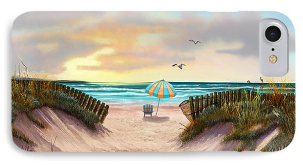 IPhone Case featuring the painting On The Beach by Sena Wilson