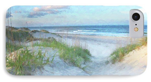 On The Beach Watercolor IPhone 7 Case