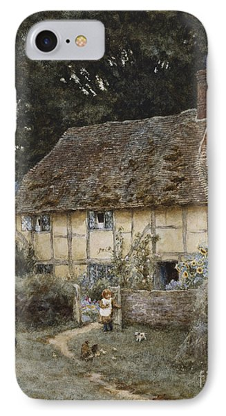 On The Brook Road Near Witley IPhone Case by Helen Allingham
