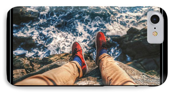 On The Edge IPhone Case by Dave Lee