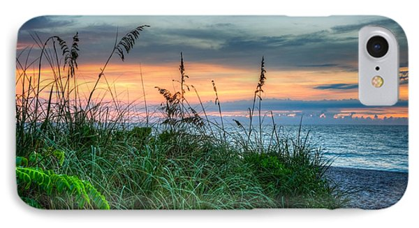 On The Edge Of Sunrise IPhone Case by Debra and Dave Vanderlaan
