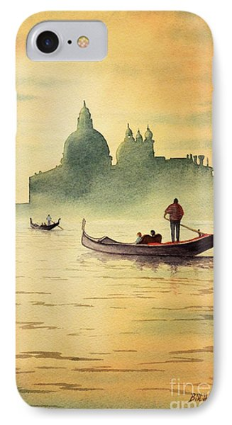 IPhone Case featuring the painting On The Grand Canal Venice Italy by Bill Holkham