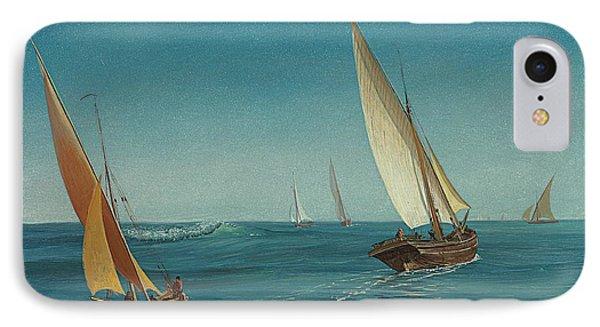 On The Mediterranean  IPhone Case by Albert Bierstadt