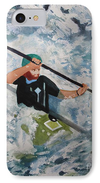 IPhone Case featuring the painting On The New by Sandy McIntire