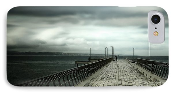 IPhone Case featuring the photograph On The Pier by Perry Webster