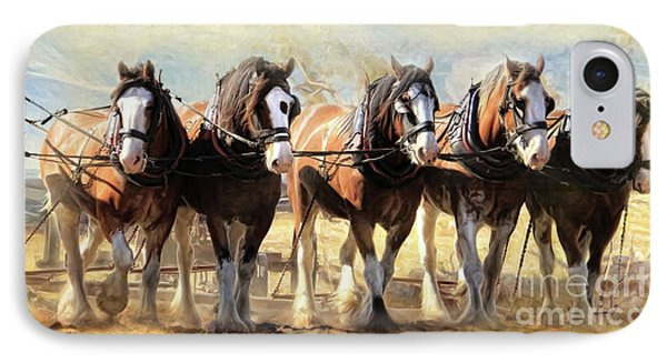 IPhone Case featuring the digital art  On The Plough by Trudi Simmonds