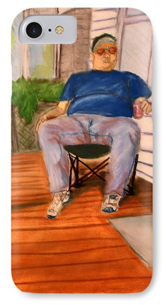 On The Porch With Uncle Pervy IPhone Case by Jean Haynes