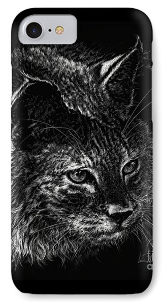 On The Prowl- Bobcat IPhone Case by Laurie Musser