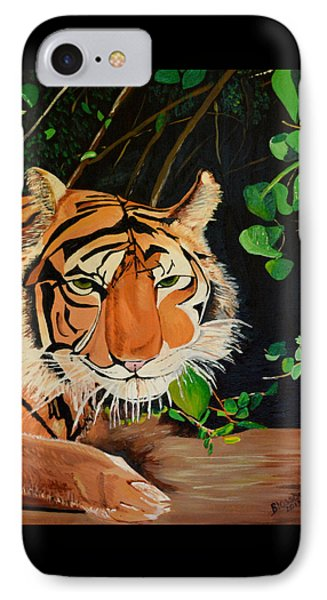IPhone Case featuring the painting On The Prowl by Donna Blossom