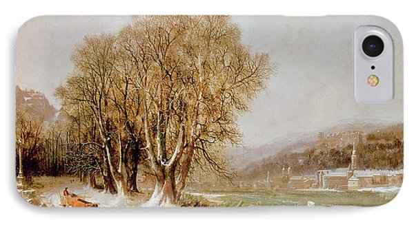 On The River Neckar Near Heidelberg Phone Case by Joseph Paul Pettit