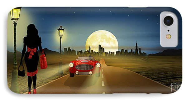 On The Road In The Night IPhone Case by Monika Juengling