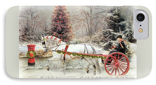 On The Road To Christmas IPhone Case by Trudi Simmonds