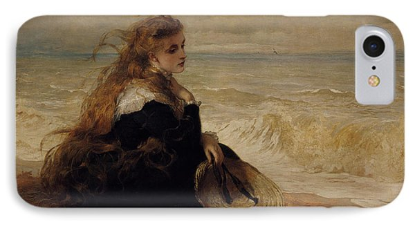 On The Seashore IPhone Case by George Elgar Hicks