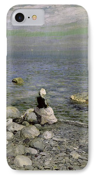On The Shore Of The Black Sea IPhone Case by Konstantin Alekseevich Korovin