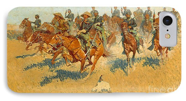 IPhone Case featuring the photograph On The Southern Plains Frederic Remington by John Stephens