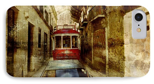 IPhone Case featuring the photograph On The Streets Of Lisbon by Dariusz Gudowicz