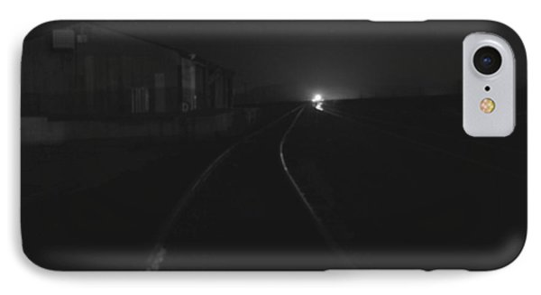 On The Tracks At Night IPhone Case