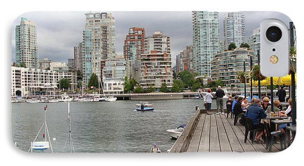 IPhone Case featuring the painting On The Water At False Creek Vancouver by Rod Jellison