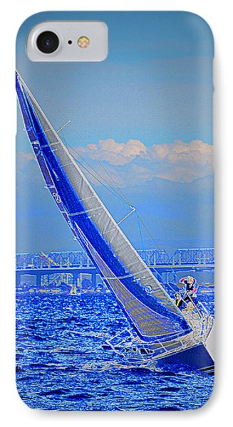 IPhone Case featuring the photograph On The Water by Barbara Dudley