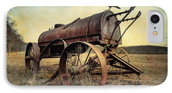 IPhone Case featuring the photograph On The Water Wagon - Agricultural Relic by Gary Heller
