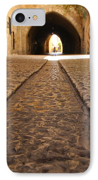 IPhone Case featuring the photograph On The Way To The Western Wall - The Kotel - Old City, Jerusalem, Israel by Yoel Koskas