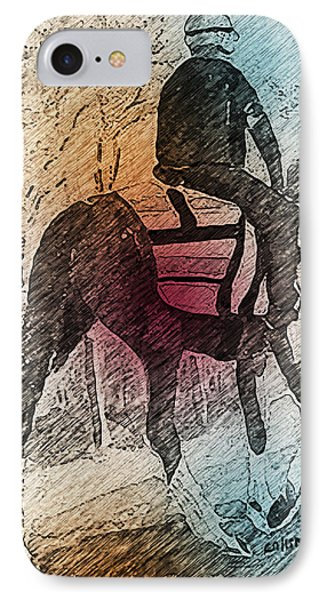 On The Way To The Workout IPhone Case by Arline Wagner