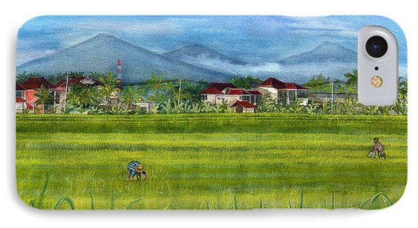 IPhone Case featuring the painting On The Way To Ubud 3 Bali Indonesia by Melly Terpening