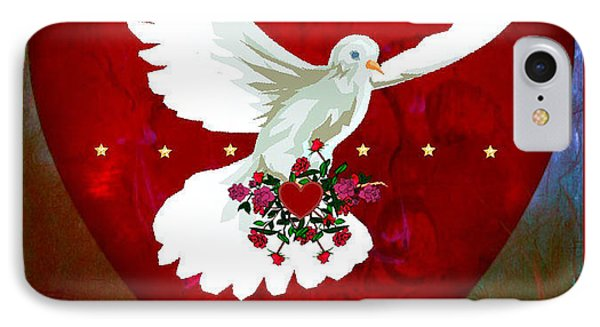 On The Wings Of Love IPhone Case by Mary Anne Ritchie