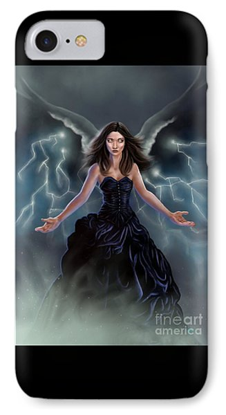 On The Wings Of The Storm IPhone Case by Amyla Silverflame