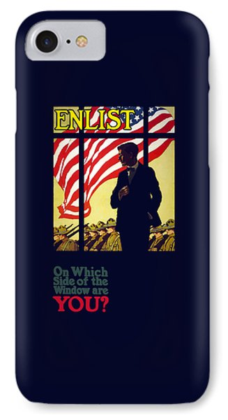 On Which Side Of The Window Are You IPhone Case by War Is Hell Store