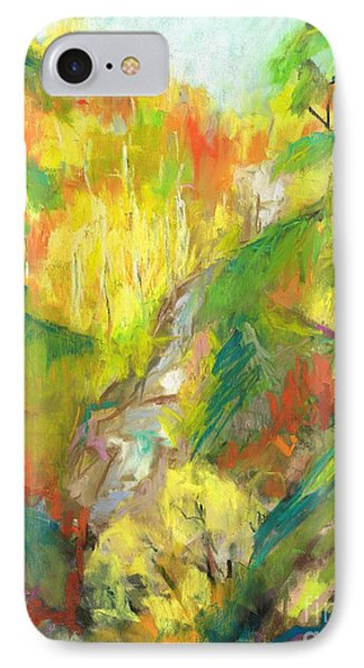 IPhone Case featuring the painting Once A Waterfalls by Frances Marino