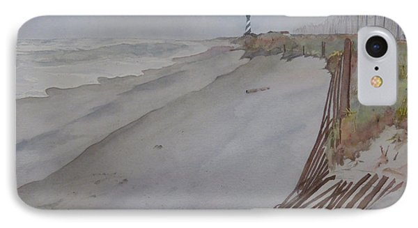 IPhone Case featuring the painting Once There Was A Lighthouse by Joel Deutsch
