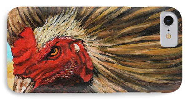IPhone Case featuring the painting One Angry Ruster by Igor Postash