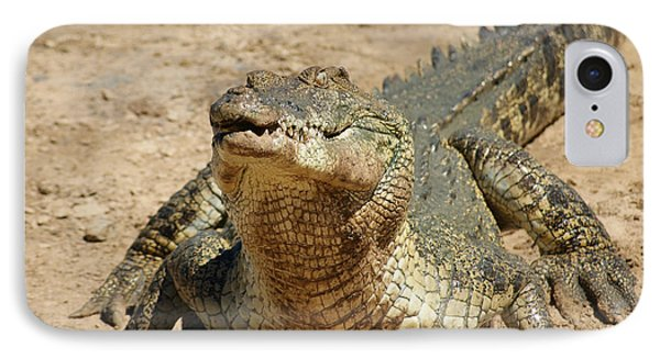 One Crazy Saltwater Crocodile IPhone Case