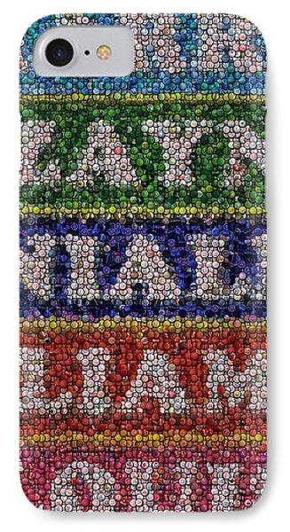 One Direction Names Bottle Cap Mosaic Phone Case by Paul Van Scott