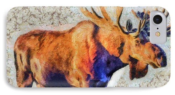 One Handsome Moose IPhone Case by Elaine Ossipov