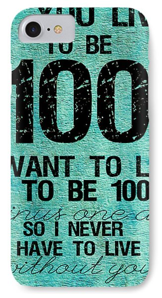 One Hundred Phone Case by Bonnie Bruno