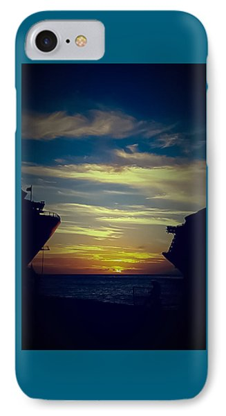 IPhone Case featuring the photograph One Last Glimpse by DigiArt Diaries by Vicky B Fuller