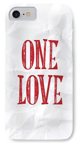 One Love IPhone Case by Samuel Whitton